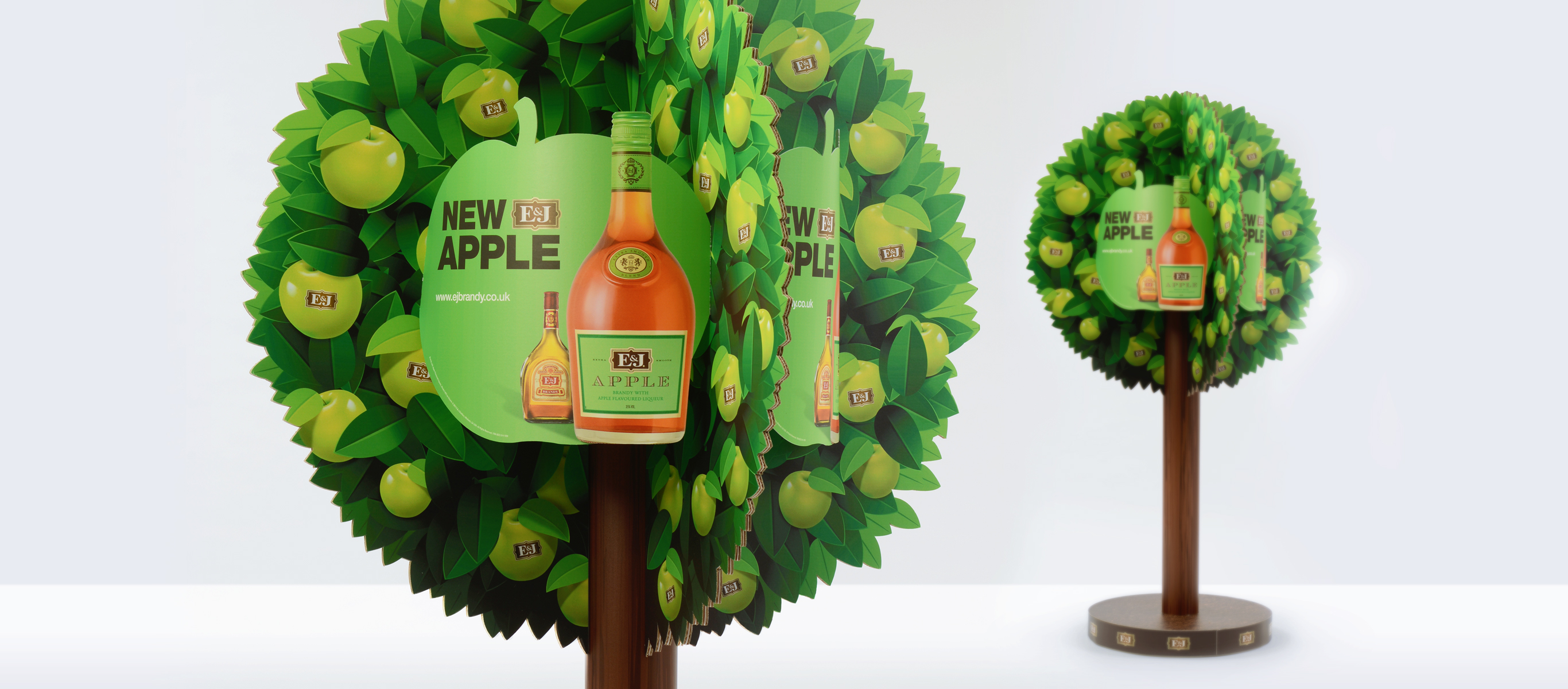 Trade Marketing Display for E&J Apple Brandy